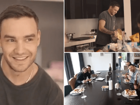 Liam Payne shows off impressive cooking skills as he treats Maya Henry and friends to Sunday roast