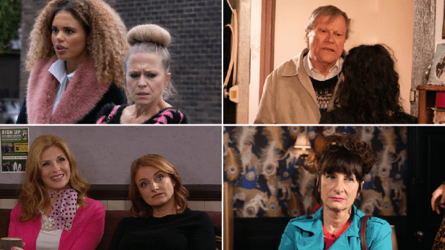 Linda Carter and Chantelle Atkins in EastEnders, Roy Cropper and Nina in Coronation Street, Bernice Blackstock and Nicola King in Emmerdale