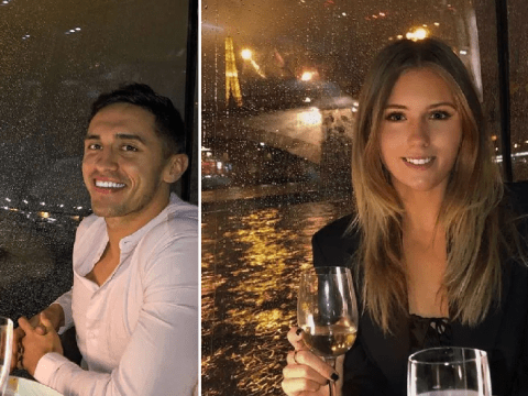 Love Island's Greg O'Shea enjoys romantic date in Paris with new girlfriend after Amber Gill split