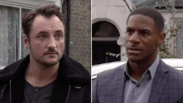 Martin Fowler and Jerome in EastEnders