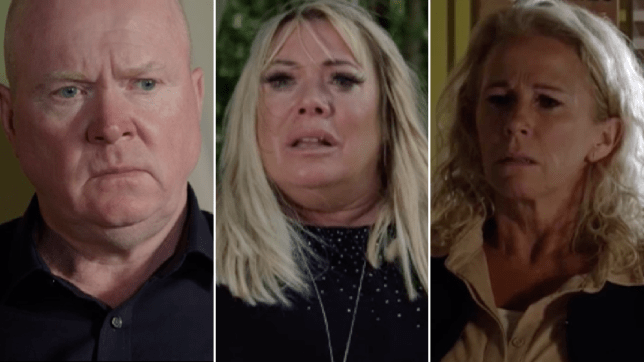 Phil and Sharon Mitchell, Lisa Fowler in EastEnders
