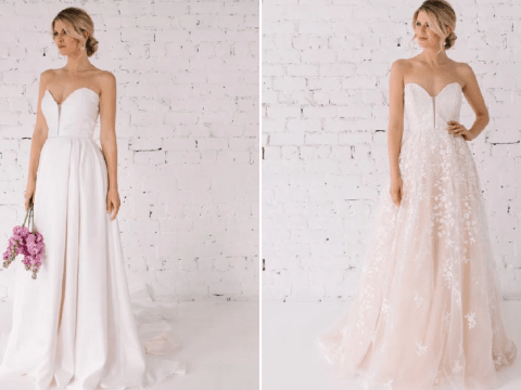 Designer creates reversible wedding dress to give brides options on their big day