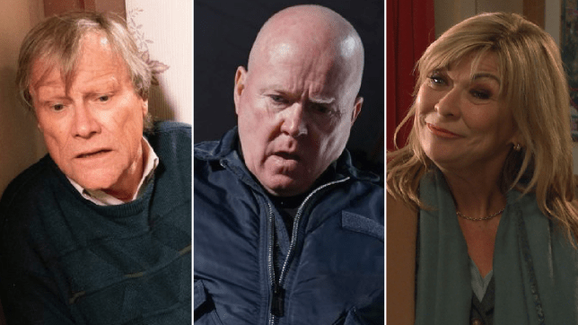 Roy Cropper in Coronation Street, Phil Mitchell in EastEnders and Kim Tate in Emmerdale
