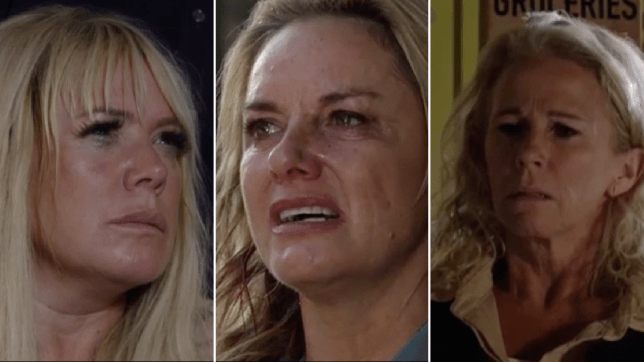 Sharon Mitchell, Lisa Fowler and Mel Owen in EastEnders