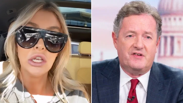 Sophia Hutchins and Piers Morgan