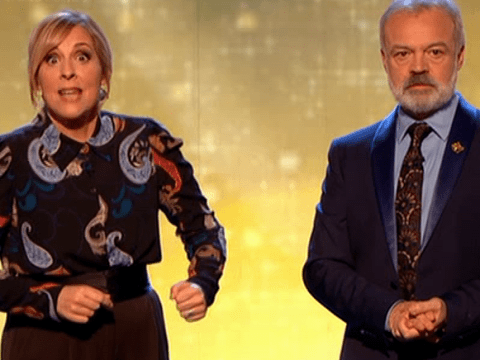 Graham Norton begs Mel Giedroyc to 'let Great British Bake Off go' on Children In Need