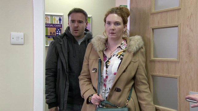 Fiz Stape and Tyrone Dobbs in Coronation Street
