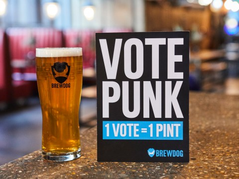 You can get a free pint at BrewDog pubs if you vote in the election