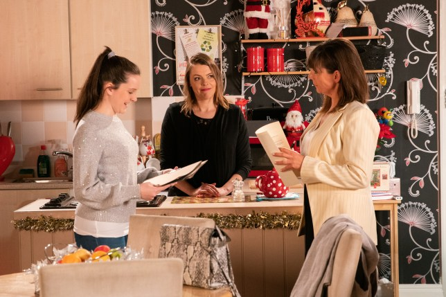 Tracy, Paula and Amy in Coronation Street