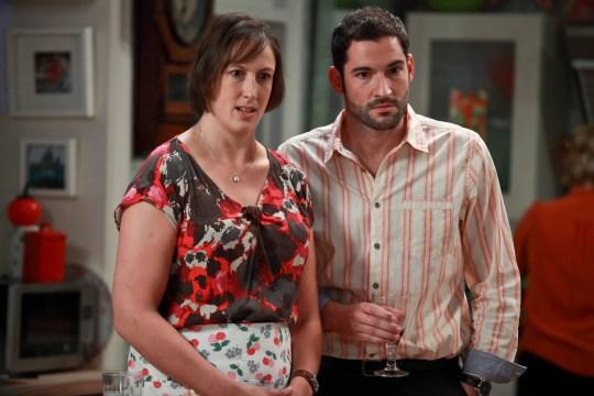 Television programme: Miranda. Miranda (Miranda Hart), Gary (Tom Ellis) - (C) BBC - Photographer: Gary Moyes