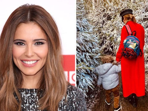 Cheryl shares adorable new photo of Bear Payne as they go walking in a winter wonderland