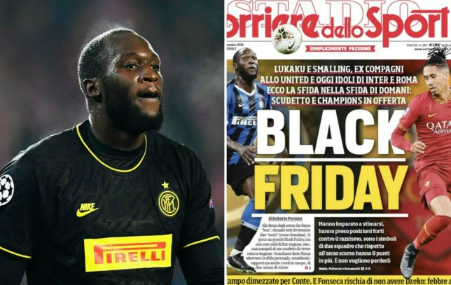 Romelu Lukaku slams racist Black Friday headline