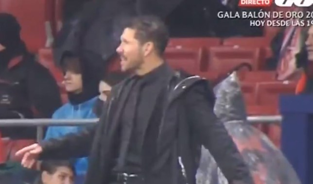 Diego Simeone's reaction to Lionel Messi's goal was priceless