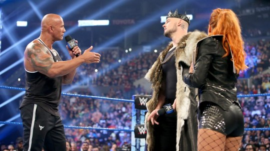 WWE's King Corbin 'owes Dwayne Johnson a beating' after SmackDown clash