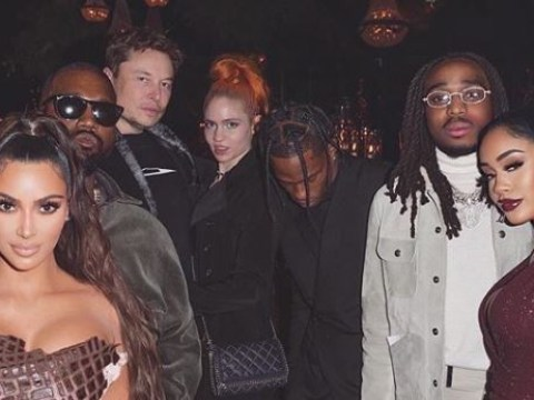 Elon Musk and Grimes spend their Christmas Eve hanging out with Kim Kardashian and Kanye West