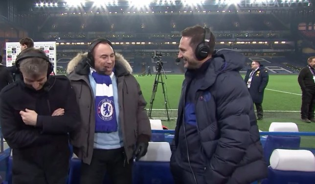 Frank Lampard couldn't resist a smile at Tottenham's defeat to Manchester United
