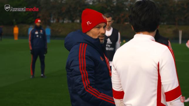 Freddie Ljungberg in Arsenal training