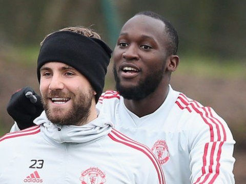 Luke Shaw mocks ex-Manchester United team-mate Romelu Lukaku after Inter Milan's Champions League exit