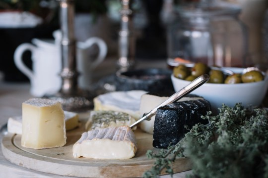 Cheese selection on the buffet of a luxury brunch.