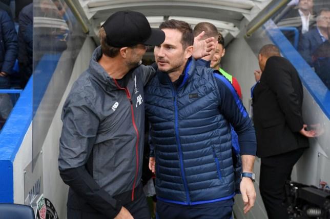 Liverpool manager Jurgen Klopp with Chelsea legend Frank Lampard