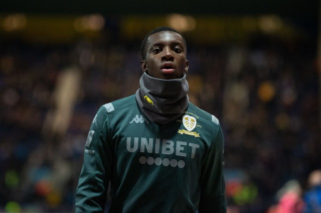 Arsenal's Eddie Nketiah is pictured before a Leeds United game
