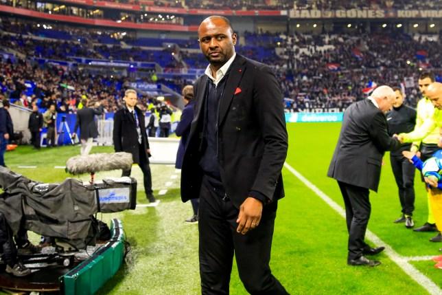 Former Arsenal captain Patrick Vieira during Nice's clash with Lyon