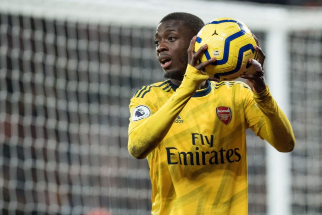 Arsenal provide positive Nicolas Pepe injury update ahead of Manchester City clash