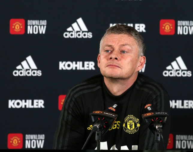 Ole Gunnar listens intently to a question at a Manchester United vs Tottenham Hotspur press conference