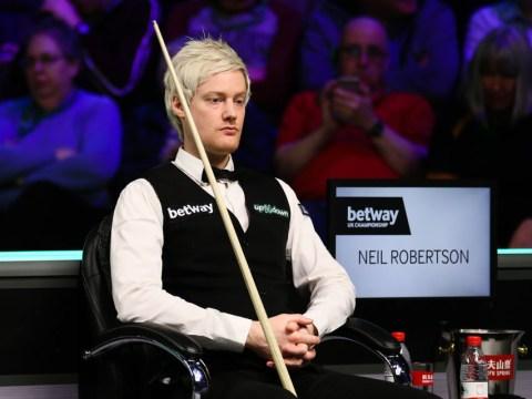 Neil Robertson reacts to shock thrashing by Yan Bingtao at UK Championship