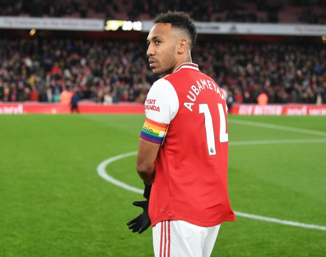 Pierre-Emerick Aubameyang is yet to win a game as Arsenal captain