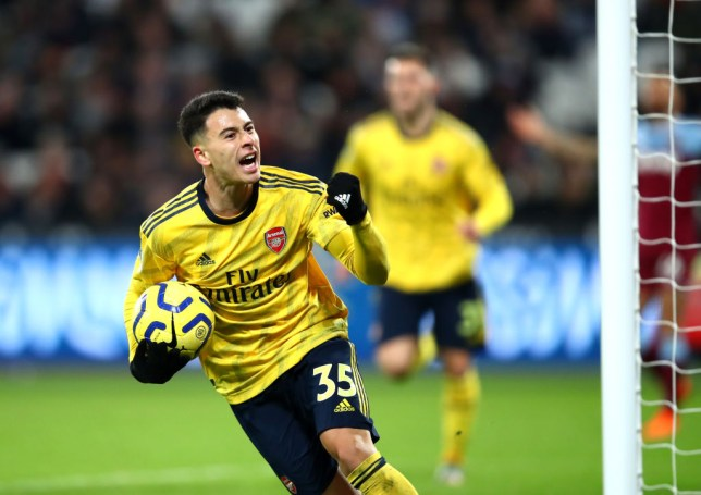 Gabriel Martinelli  scored to spark Arsenal's comeback against West Ham
