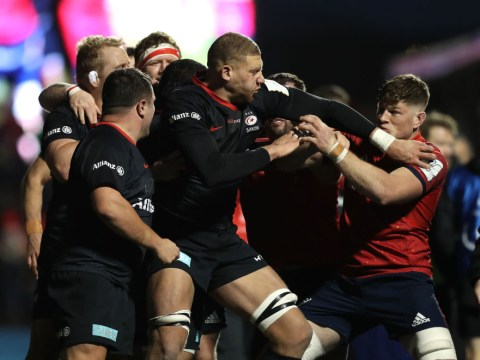 Saracens v Munster descends into brawl after Jamie George confronts medic over weight jibe