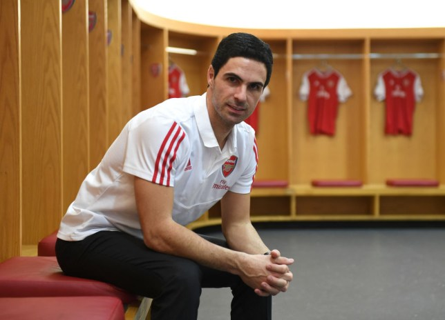 New Arsenal boss Mikel Arteta spoke to players in dressing room