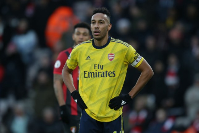 Pierre-Emerick Aubameyang looks on dejected during an Arsenal game