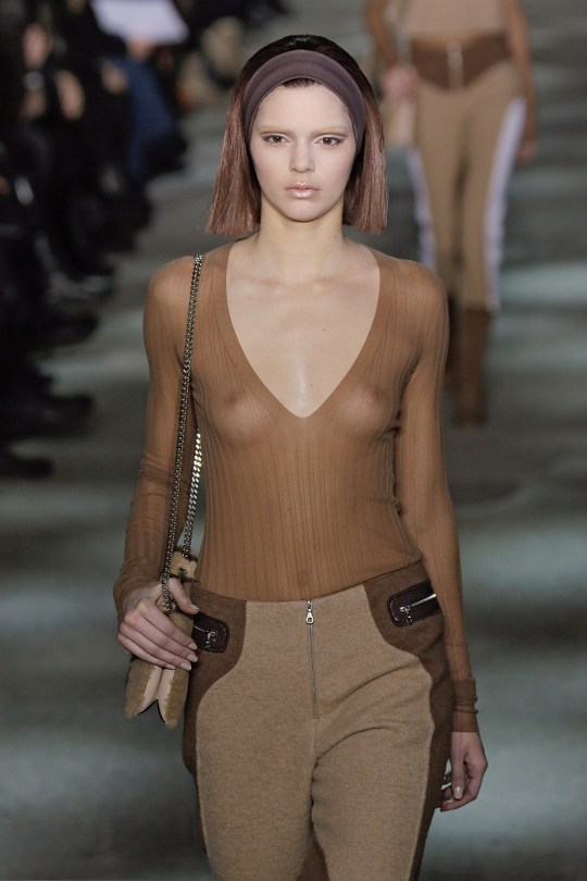 Kendall Jenner reveals at first runway show at 18 she was 'made to have her boobs out'