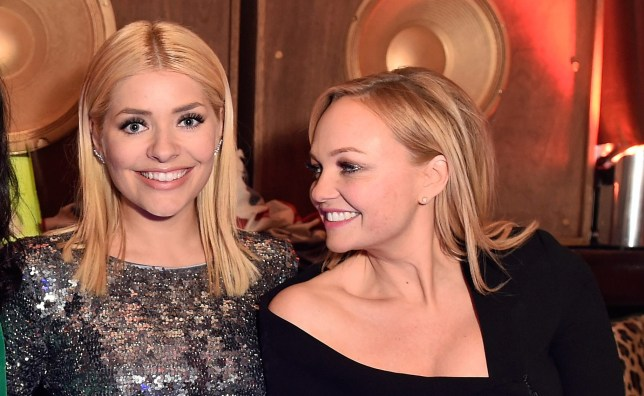 Emma Bunton admits to giving Holly Willoughby a cheeky kiss