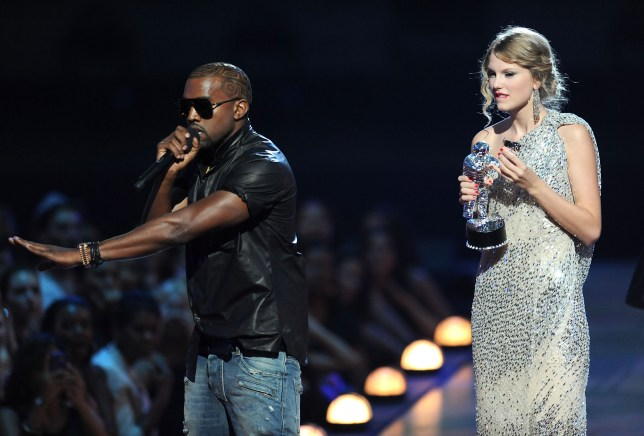 Kanye West stealing the microphone from Taylor Swift at MTV awards in 2009.