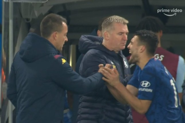 John Terry crushed Mateo Kovacic's hand after Chelsea's win over Aston Villa