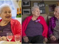 Woman celebrates 100th birthday with 108-year-old sister at her side