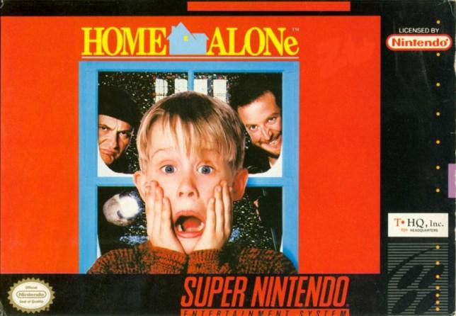 Home Alone SNES box