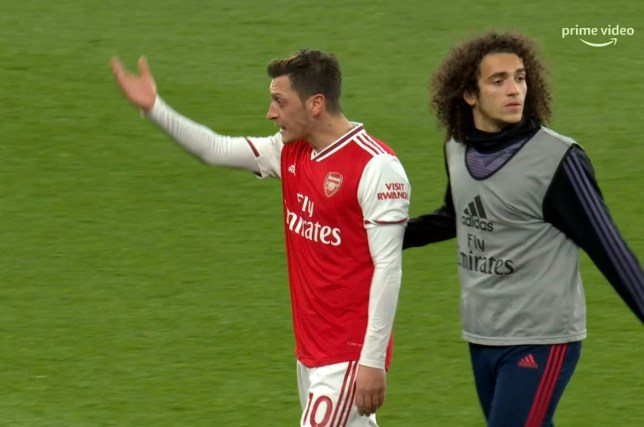 Mesut Ozil was furious after Arsenal's defeat to Brighton