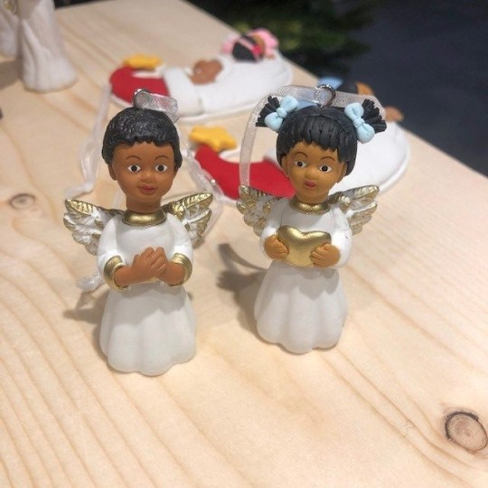Black angel baby decorations