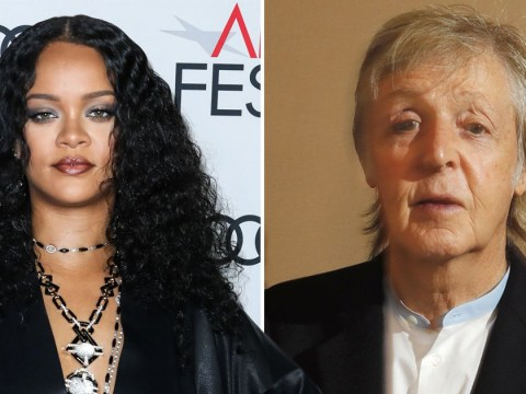 Rihanna and Paul McCartney have a 'Rihunion' as they run into each other on the plane