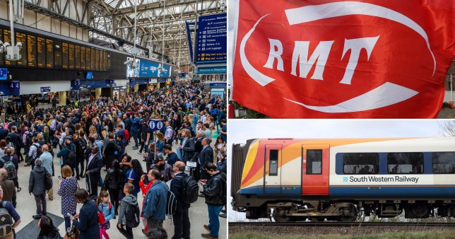 South Western Railway workers will walk out for 27 days until New Year's Day (Pictures: Getty/AP/Rex)
