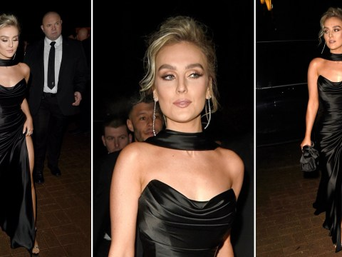 Little Mix's Perrie Edwards all about the thigh action as she joins Alex Oxlade-Chamberlain at charity gala