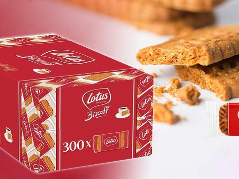 Amazon is selling a box of 300 Lotus Biscoff biscuits for under £13