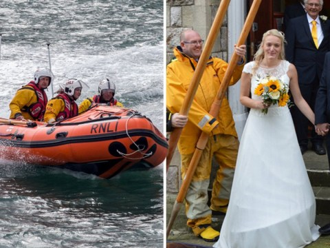 Wedding interrupted after lifeboat volunteer guests get called to an emergency