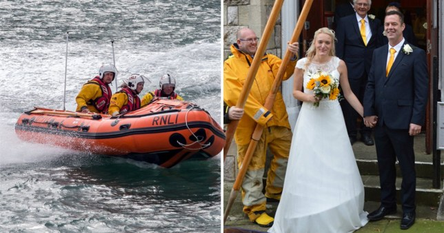Ilfracombe RNLI in North Devon rushing to help a person on sea