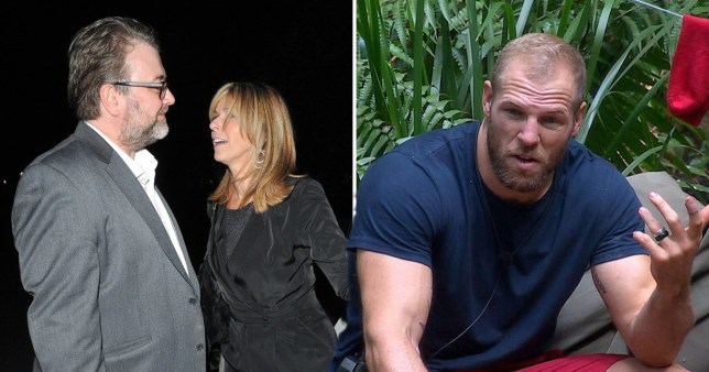 Kate Garraway with her husband and James Haskell on I'm A Celeb