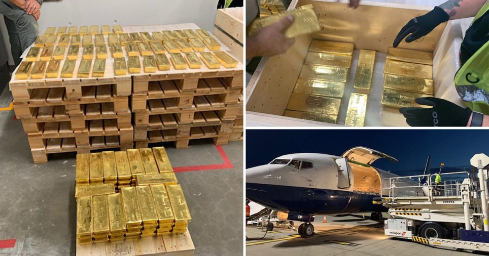 The gold was moved in a secret mission spanning several months (Picture: G4S)